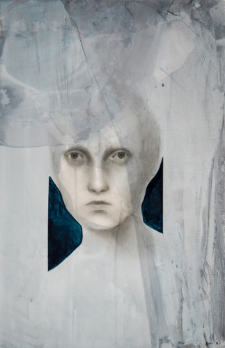 Tittle: Agnosia / Llaine, Material: Charcoal, Graphite, Ink and Acrylic, Medium: Paper, Size: 70 x 100, Year: 2019